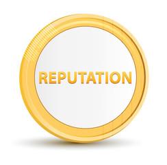 Reputation gold round button