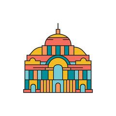 Palace icon, cartoon style