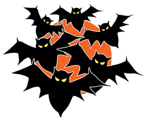 A Bunch of Bats Flying in For a Halloween Party