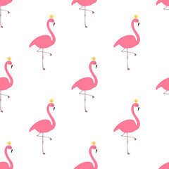 Flamingo with crown pattern