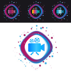 Camera Icon - Modern Colorful Vector Illustration - Isolated On Black And White Background