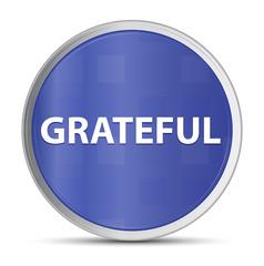 Grateful blue round button
