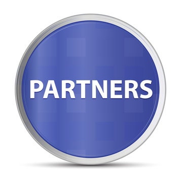 Partners blue round button