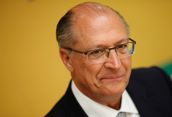 Presidential candidate Geraldo Alckmin of Brazilian Social Democratic Party (PSDB) attends an interview with foreign media in Brasilia