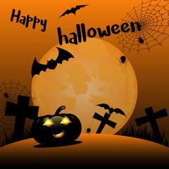 Halloween pumpkin in mystery scene