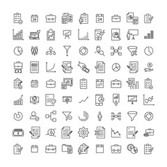 Simple collection of freelance related line icons.