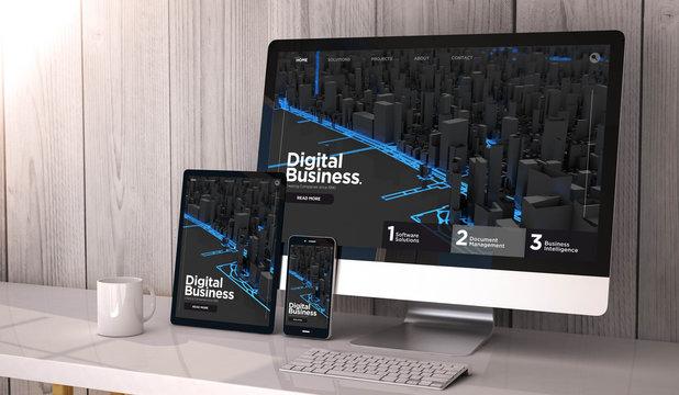 devices responsive on workspace digital businesswebsite design