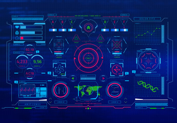 Überlagerungsgrafiken für eine Sci-Fi-Benutzeroberfläche