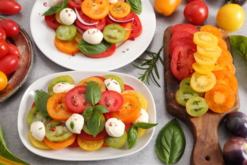 Colorful tomatoes.
