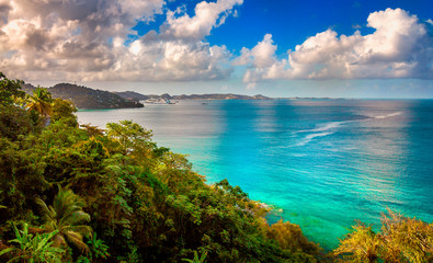 Grand Mal Bay. Located north of the capital St George's in the caribbean island of Grenada.