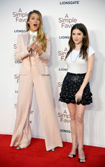 """Actors Blake Lively and Anna Kendrick attend the UK premiere of the film """"A Simple Favor"""" in London"""