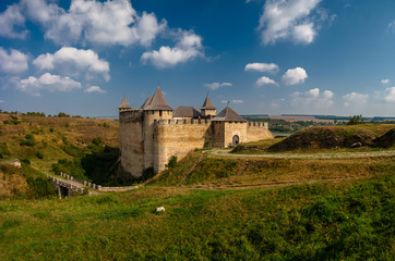 Khotyn fortress on a sunny day. Ukraine. Wall mural