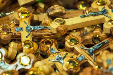 Wooden Crosses in Souvenir Shop, Jerusalem