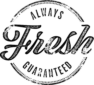 Always Fresh Vintage Rubber Stamp