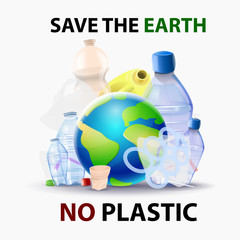 Save the planet from the pollution of plastics