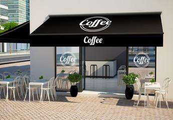 Café Façade Mockup