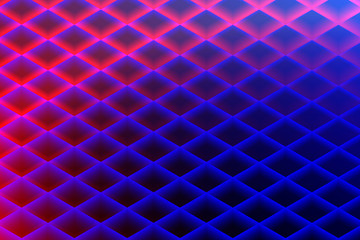 Abstract Colorful Pattern with Rhombuses. Pink and Blue Geometric Computer Graphic.
