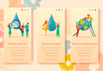 Water cleaning banners