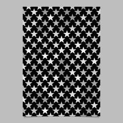 Grey geometrical pentagram star shape pattern background brochure template design