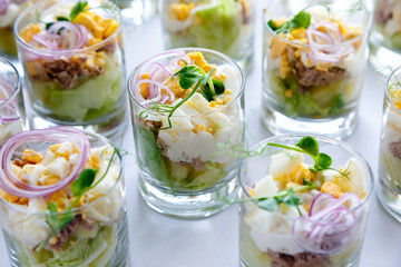 Salad in a glass Cup