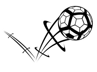 Soccer ball with an effect icon. Vector illustration design