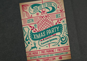 Christmas Party Invitation Layout