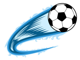 Soccer ball with an effect. Vector illustration design