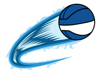 Basketball ball with an effect. Vector illustration design