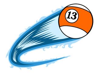 Billiard ball with an effect. Vector illustration design