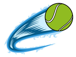 Tennis ball with an effect. Vector illustration design