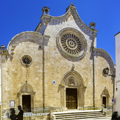 Cathedral of the medieval town Ostuni in Puglia, South Italy.