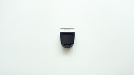 flash light for camera on white background