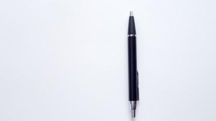Wall Mural - Black pen on white background