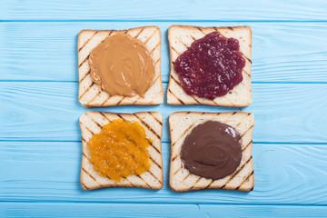 Mix of butter sandwich
