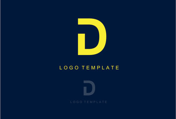 Simple Logo Icon Letter D Vector Design