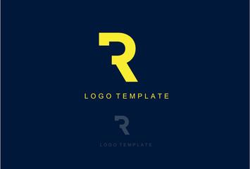 Simple Logo Icon Letter R Vector Design