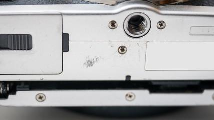 Bottom of the camera close up
