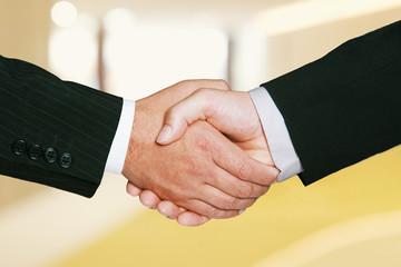Gold Business Handel mit Handschlag