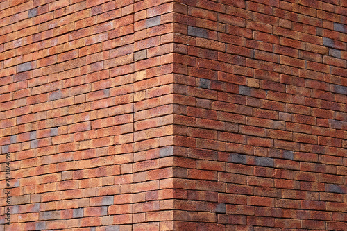 Red Brick Texture Of The Corner Of The House Red Brick Wall For