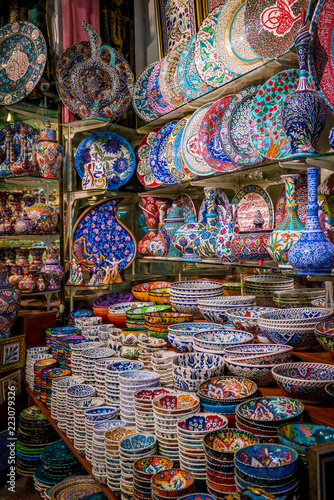 Turkish ceramics on sale at the Grand Bazaar in Istanbul