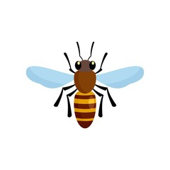Bee queen of insect icon. Flat illustration of bee queen of insect vector icon for web design