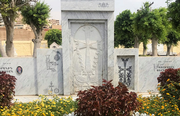 A general view of the Armenian cemetery in Cairo