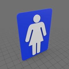 Female bathroom sign