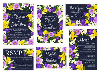 Wedding floral invitations and greetings