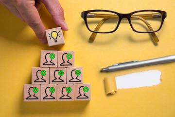 Idee durch Teamwork