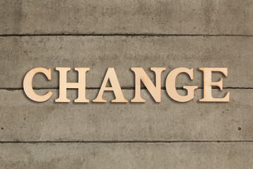 """word """"change"""" on solid background"""