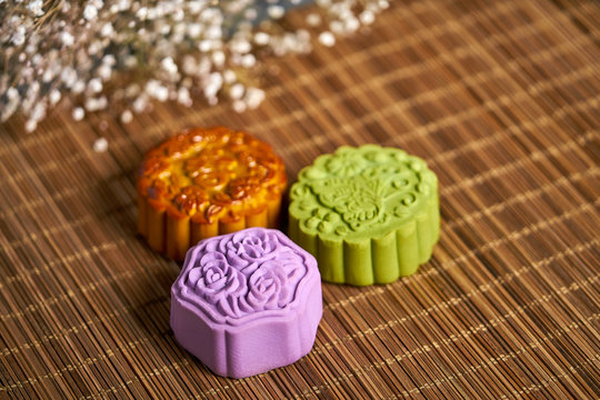 Asian Vietnamese Chinese Mooncake for Mid Autumn Festival Moon Festival South East Asia