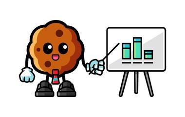 Cookie presentation mascot cartoon illustration
