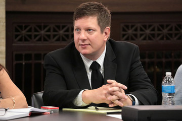 Jason Van Dyke listens before his trial begins for the shooting death of Laquan McDonald at the Leighton Criminal Court Building in Chicago