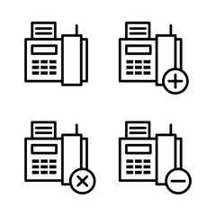 set of Fax icons. Element of phone icons for mobile concept and web apps. Thin line icons for website design and development, app development